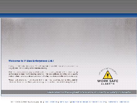 P-Ban Enterprises Ltd (780-451-7550) - Website thumbnail - http://www.pban.ca