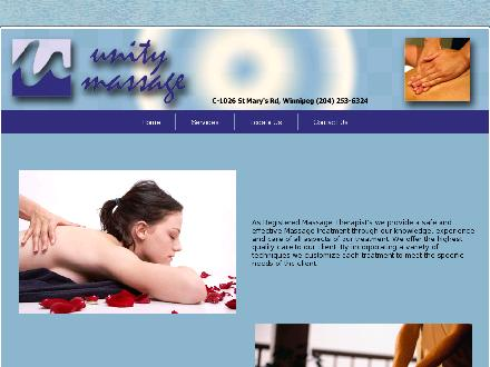 Unity Massage (204-253-6324) - Website thumbnail - http://www.unitymassage.net