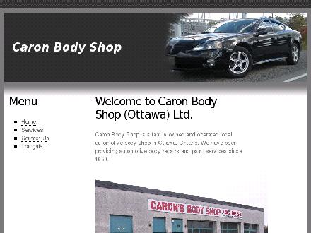 Caron Body Shop (Ottawa) Ltd (613-746-2653) - Onglet de site Web - http://www.caronbodyshop.com