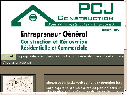 PCJ Construction (418-456-2410) - Onglet de site Web - http://www.pcjconstruction.ca