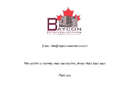 Baycon Construction (905-388-8339) - Onglet de site Web - http://www.bayconconstruction.com