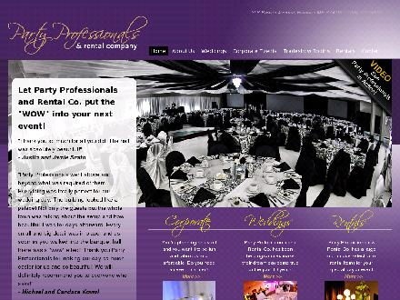 Party Professionals & Rental Co (204-727-5029) - Onglet de site Web - http://www.partyprofessionals.ca
