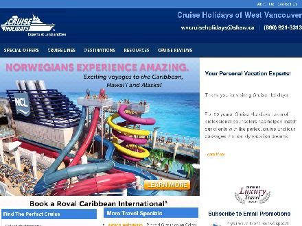 Cruise Holidays of West Vancouver (604-921-3393) - Onglet de site Web - http://www.westvancouvercruiseholidays.com