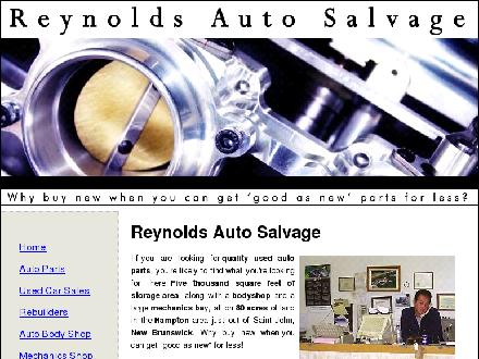 Reynold's Auto Parts (1-888-587-2683) - Website thumbnail - http://www.reynoldsautosalvage.com