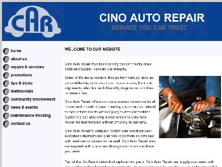 Cino Auto Repairs (905-662-2000) - Onglet de site Web - http://www.cinoautorepair.com