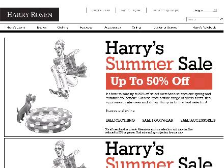 Harryrosen.com - Onglet de site Web - http://www.harryrosen.com