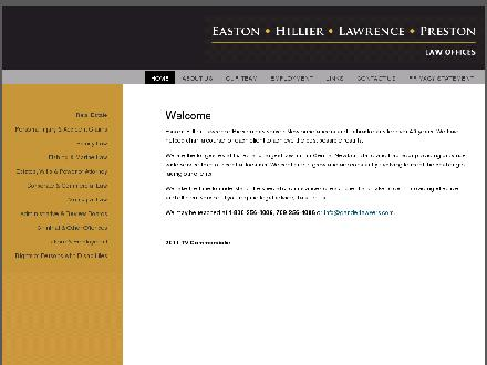 Easton Hillier Lawrence Preston (1-855-334-6067) - Website thumbnail - http://www.ganderlawyers.com