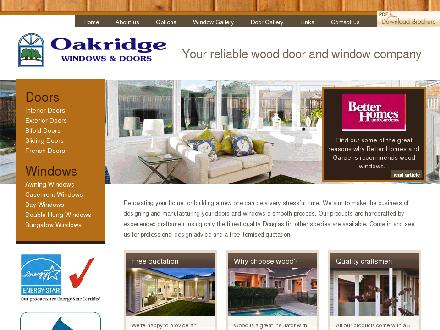 Oakridge Windows & Doors Ltd (250-384-4478) - Website thumbnail - http://www.oakridgewindows.ca