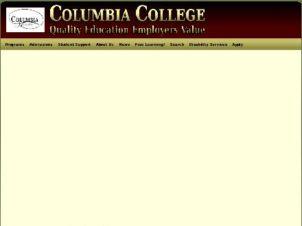 Columbia College (403-235-9300) - Website thumbnail - http://www.columbia.ab.ca