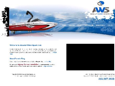 Absolut Watersports (403-297-2628) - Onglet de site Web - http://www.absolutwatersports.com