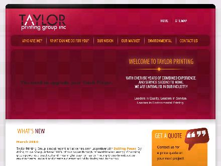 Taylor Printing Group Inc (1-888-268-1777) - Website thumbnail - http://www.tpgi.ca
