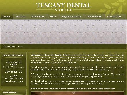 Tuscany Dental Centre (250-382-1711) - Website thumbnail - http://www.tuscanydentalcentre.com