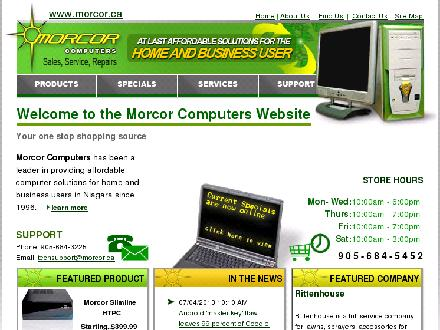 Morcor Computers 2000 Ltd (905-684-5452) - Website thumbnail - http://www.morcor.ca/