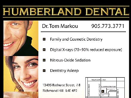 Humberland Dental (905-773-3771) - Onglet de site Web - http://www.humberlanddental.com