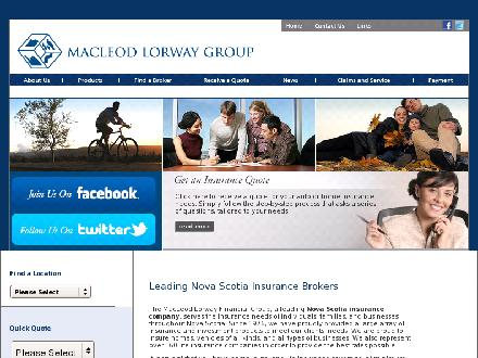 Veinot Insurance (1-866-258-9006) - Onglet de site Web - http://www.macleodlorway.com