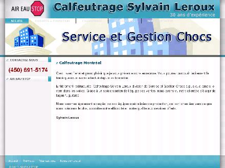 Service &amp; Gestion Chocs (450-691-5174) - Onglet de site Web - http://www.aireaustop.ca