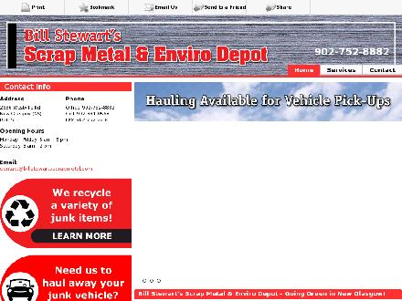 Stewart's Bill Scrap Metal & Bottle Exchange (902-752-8882) - Onglet de site Web - http://billstewartsscrapmetal.com