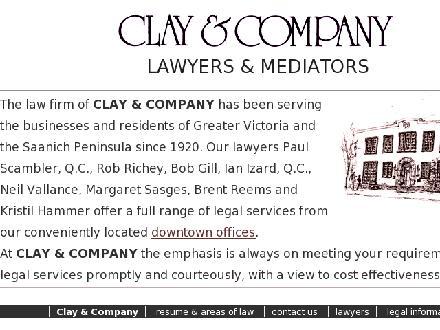 Clay & Co (250-386-2261) - Website thumbnail - http://www.clay.bc.ca