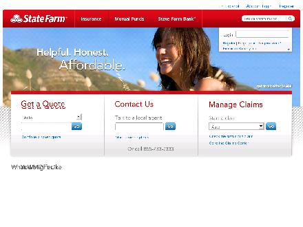 State Farm - Website thumbnail - http://www.statefarm.com