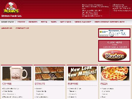 Robin's Donuts &amp; Deli (204-677-4444) - Onglet de site Web - http://www.robinsthompson.com