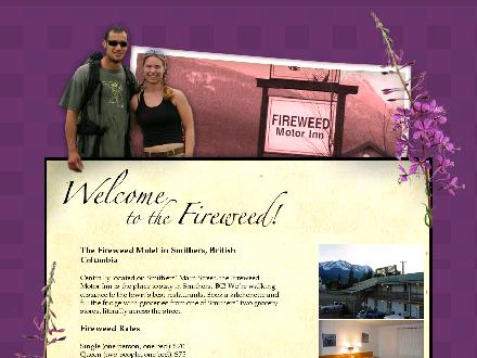 Fireweed Motor Inn (250-847-6566) - Website thumbnail - http://www.fireweedmotel.com/