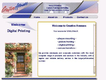 Creative Avenues Ltd (403-292-0360) - Onglet de site Web - http://www.creativeavenues.com