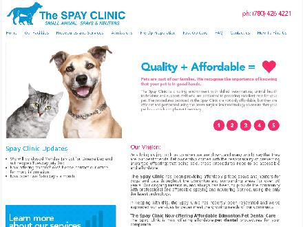 Spay Clinic The (780-426-4221) - Website thumbnail - http://www.spayclinic.ca