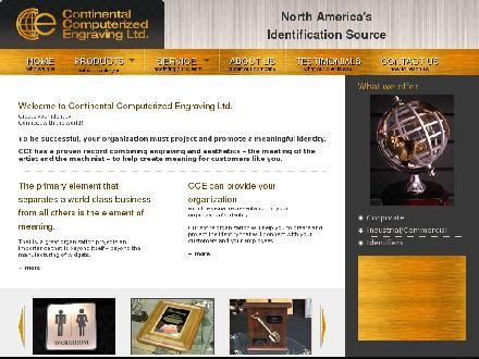 Continental Computerized Engraving Ltd (905-836-8141) - Website thumbnail - http://www.ccengrave.com