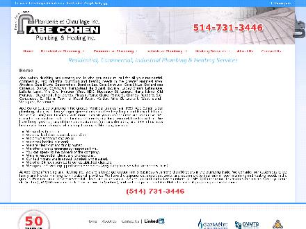 Abe Cohen Plumbing & Heating Inc (514-731-3446) - Website thumbnail - http://www.abecohenplumbing.com