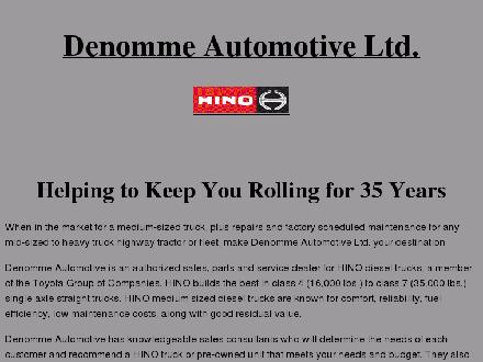 Denomme Automotive (519-743-9771) - Website thumbnail - http://www.denommehino.com