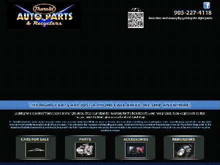 Thorold Auto Parts & Recyclers (905-227-4118) - Website thumbnail - http://www.thoroldauto.com