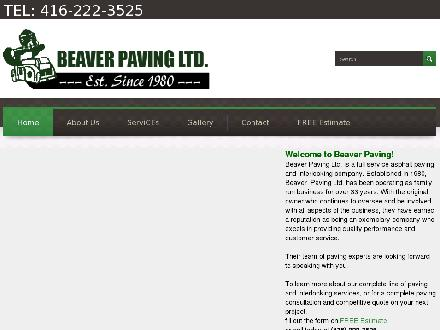 Beaver Paving Ltd (416-222-3525) - Website thumbnail - http://www.beaverpavingltd.com