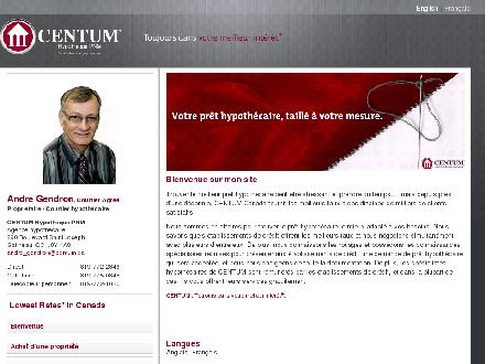 Centum Hypoth&egrave;que PNM (819-772-2846) - Onglet de site Web - http://www.centum.ca/andre_gendron
