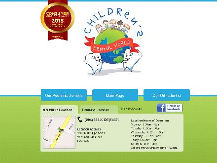 Children's Dental World Inc (204-888-5437) - Onglet de site Web - http://www.childrensdentalworld.ca