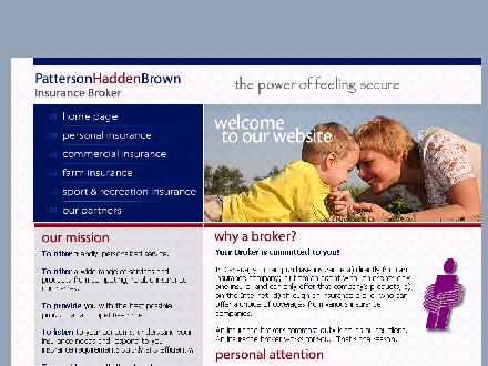 Patterson Hadden & Brown Insurance Brokers (1-877-261-1716) - Onglet de site Web - http://www.PattersonHaddenBrown.ca