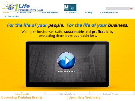 1 Life Workplace Safety &amp; Health Ltd (204-231-5433) - Onglet de site Web - http://www.1lifeworkplacesafety.com