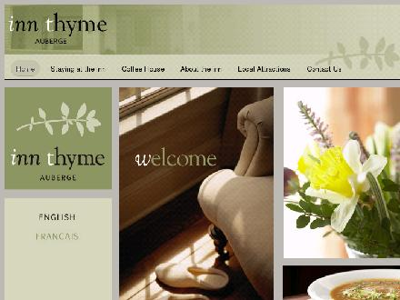 Auberge Inn Thyme (506-532-6098) - Website thumbnail - http://www.innthyme.com