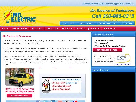 Mr Electric (306-384-3612) - Onglet de site Web - http://saskatoon.mrelectric.com/