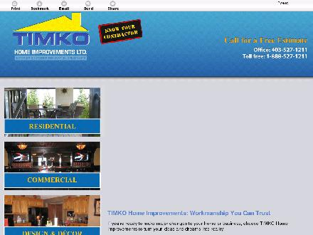 TIMKO Home Improvements Ltd (403-548-9014) - Website thumbnail - http://timkohome.com/