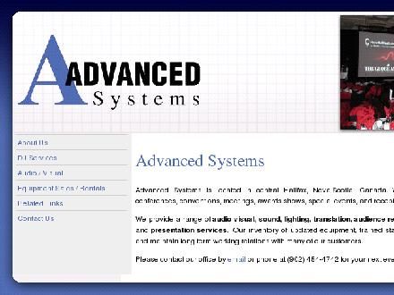 Advanced Systems Audio Visual Disc Jockey ABV DJ (902-454-4742) - Onglet de site Web - http://www.advancedsystems.ca