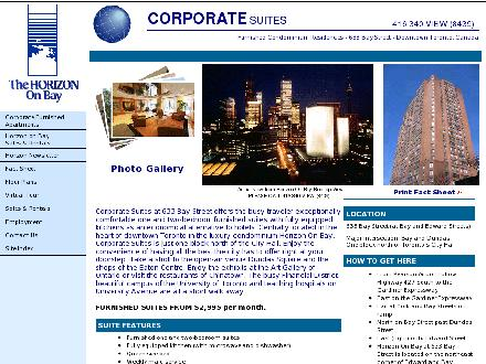 Corporate Suites (416-340-8439) - Website thumbnail - http://www.horizon-on-bay.com