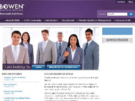 Bowen Workforce Solutions (403-262-1156) - Onglet de site Web - http://www.bowenworks.ca