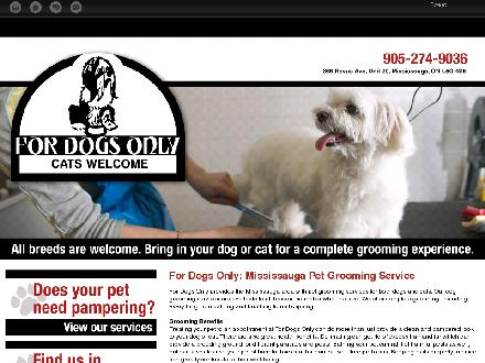 For Dogs Only (905-274-9036) - Onglet de site Web - http://fordogsonly.ca/