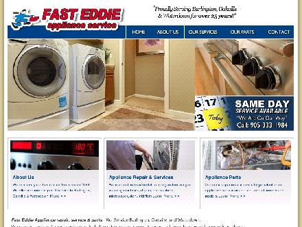 Fast Eddie Appliance Service & Parts (905-333-1984) - Onglet de site Web - http://www.fasteddieappliances.com