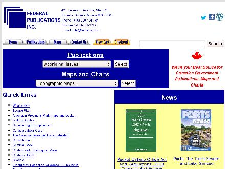 Federal Publications Inc (416-860-1611) - Website thumbnail - http://www.fedpubs.com