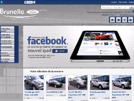 Brunelle Ford Ventes Ltée (450-491-1110) - Website thumbnail - http://www.brunelleford.com