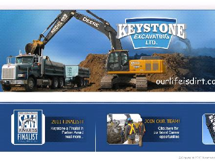 Keystone Excavating Ltd (403-274-5452) - Onglet de site Web - http://www.keystoneexcavating.com