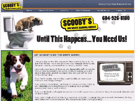 Scooby's Dog Waste Removal Service (604-926-8180) - Website thumbnail - http://www.wescooppoop.ca