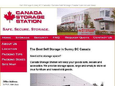 Canada Storage Station Ltd (604-592-2817) - Onglet de site Web - http://www.storagestation.ca