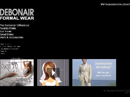 Debonair Formal Wear Ltd (604-521-7207) - Website thumbnail - http://www.debonairformalwear.com